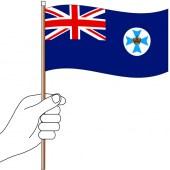 QLD State Hand Flag Handwaver