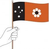 Northern Territory Hand Flag Handwaver