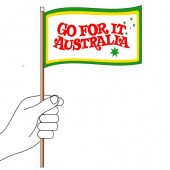 Go For It Australia Hand Flag Handwaver