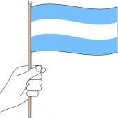 Argentina Hand Flag Handwaver