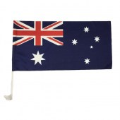 Australian Car Flag & Pole Set 560mm x 280mm (Knitted)
