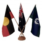 Australian, Aboriginal and TSI Desk Flag Set