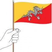 Bhutan Hand Flag Handwaver
