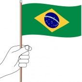Brazil Hand Flag Handwaver