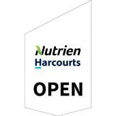 Nutrien Harcourts Open Shop Front Banner White