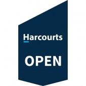 Harcourts Open Shop Front Banner