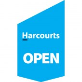 Harcourts 'Open' Shop Front Banner
