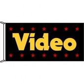 Video Flag 1800mm x 900mm (Knitted)