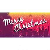 Merry Christmas Pink Purple Horizontal