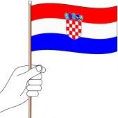 Croatia Hand Flag Handwaver