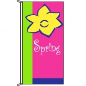 Spring Flag Yellow Flower 900mm x 1800mm (Knitted)