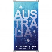 Australia Day flag design, eyelet finish.