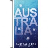Australia Day flag, flagpole vertical finish