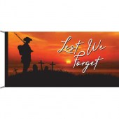 Lest We Forget Soldier Sunset Background Header and Loops Flagpole Flag