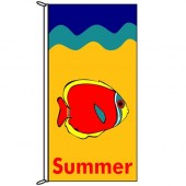 Summer Flag with Fish 900mm x 1800mm (Knitted)