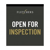 Fletchers Open for Inspection 900mm x 1800mm (Double Sided Flag)