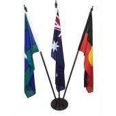 Australian, Aboriginal, TSI Foyer Display with wooden base