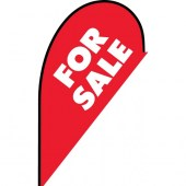 For Sale red small teardrop flag kit