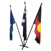 Australian, Aboriginal, TSI Foyer Display with metal base