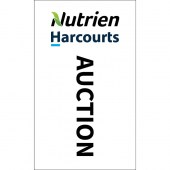 Nutrien Harcourts Auction (2020) White 1800mm x 900mm (Knitted)