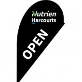 Nutrien Harcourts Open Black (2020) Small Tear Drop Flag