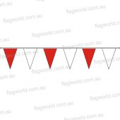 Pennant Bunting Red & White