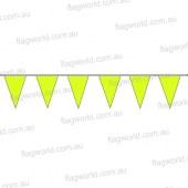 Pennant Bunting Fluoro Yellow