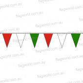 Pennant Bunting Red, White, Green