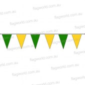 Pennant Bunting Green & Gold