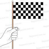 Chequered Flag Hand Flag Handwaver