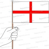St Georges Cross Hand Flag Handwaver