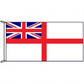 Navy White Ensign British Flag