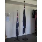 Indoor timber flagpoles
