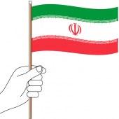 Iran Hand Flag Handwaver
