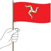 Isle of Man Hand Flag Handwaver
