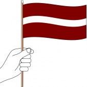 Latvia Hand Flag Handwaver