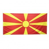 Macedonia Flag 1800mm x 900mm (Knitted)