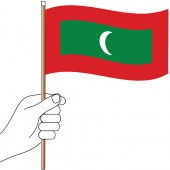 Maldives Hand Flag Handwaver