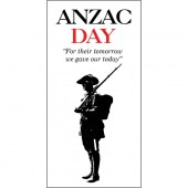 ANZAC Day Flag - Single Soldier with Quote (49)