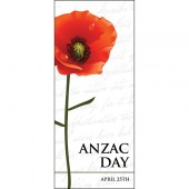 ANZAC Day Flag - Tall Red Poppy