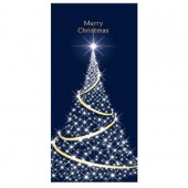 Merry Christmas Flag Dark Blue with White Tree (87)