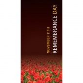 Remembrance Day Flag - Colour Fade to Red Poppies (10)