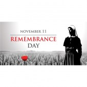Remembrance Day Flag  - Nurse Remembrance with Poppy  (19)