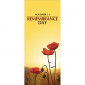 Remembrance Day Flag - Poppies and Sunset  (16)