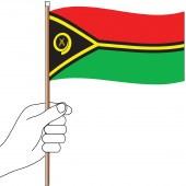 Vanuatu Hand Flag Handwaver