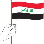 Iraq Hand Flag Handwaver