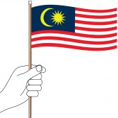 Malaysia Hand Flag Handwaver