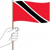 Trinidad and Tobago Hand Flag Handwaver
