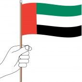 UAE Hand Flag Handwaver