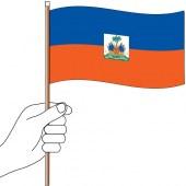 Haiti Handwaver Flag 300 x 150mm (Knitted)